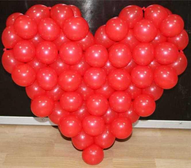 Сердце из шаров своими руками в картинках внутреннего диаметра